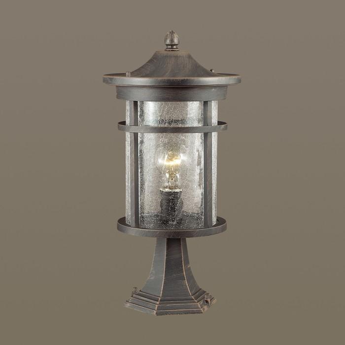 Уличный светильник на столб VIRTA, 1x60Вт, E27, IP44, цвет черный