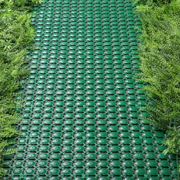Модульное покрытие, 12,5 × 12,5 см, пластик, набор 7 шт., зелёная, «Мозаика»