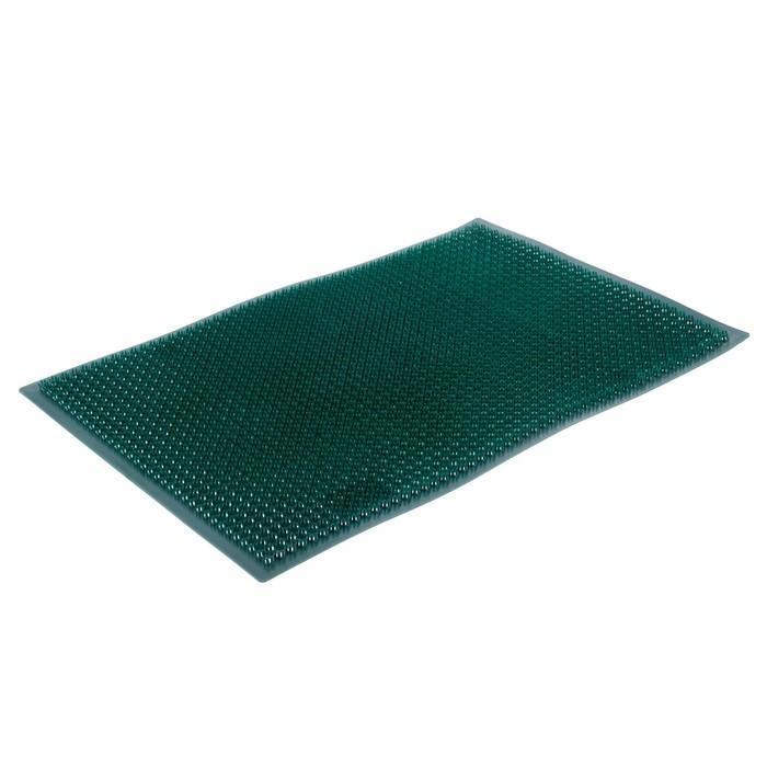 """Покрытие ковровое на основе, щетинистое 38,5х58,5 см """"Травка"""", цвет темно-зеленый"""