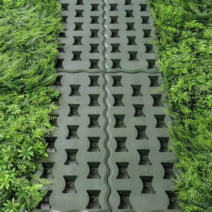 Модульное покрытие, 59 × 19.5 см, пластик, набор 5 шт., зелёный