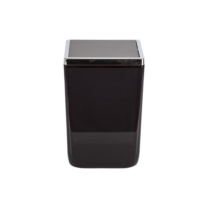 Урна с крышкой Toskana, 6 л, цвет прозрачно-чёрный