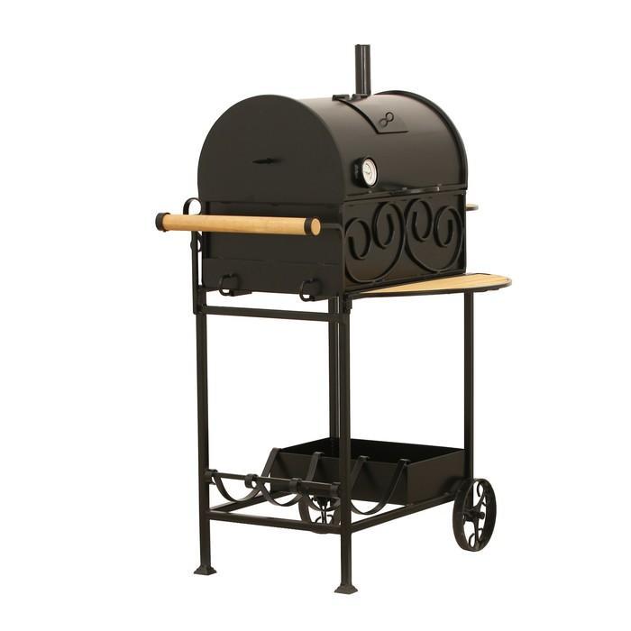 Угольно-древесное барбекю с крышкой, на колёсах в Ялте