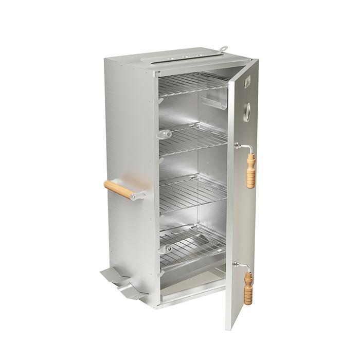Шкаф коптильный на 4 полки Smoky Master 4, термометр, жиросток, поддон для щепы, 40 х 32,5 х 85 см купить в Крыму