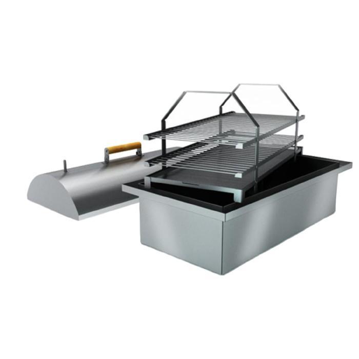 Коптильня двухъярусная с гидрозатвором Smoky Lux 75, крышка, две решётки, 73 х 38,5 х 30 см   339215 купить в Крыму