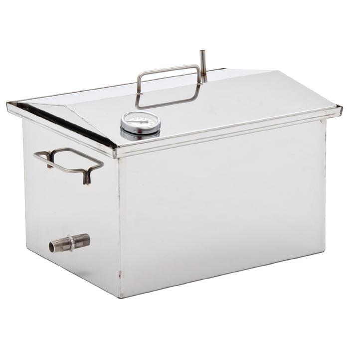 Коптильня «Крышка домиком» для горячего и холодного копчения, 2 мм, размер 400х250х300 мм в Симферополе