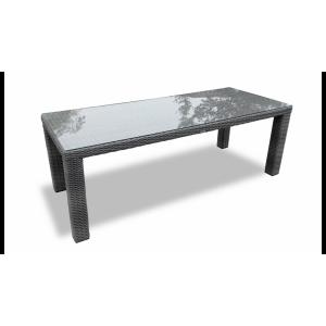 Купить Плетеный стол GRACE обеденный 215 см bk