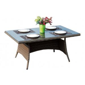 Купить Плетеный стол GENEVA 140 см bk