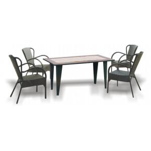 """Купить Набор мебели из искусственного ротанга """"Римини"""" bk"""