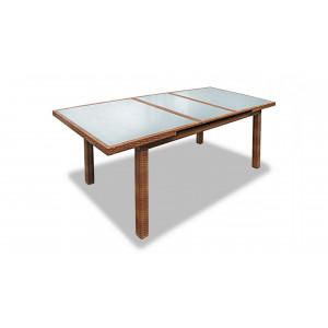 Купить Плетеный стол MYKONOS раздвижной 210 см светлый bk