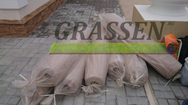геотекстиль укладка травы грассен