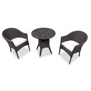 Купить Комплект плетеной мебели WARSAW темно-коричневый bk