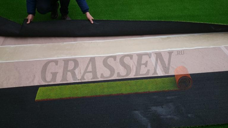 Проклейка искусственной травы Грассен