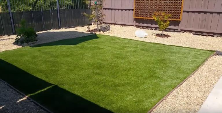 Искусственная газонная трава готовая площадка
